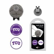 Texas Christian Horned Frogs Hat Clip & Marker Set
