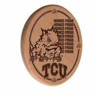 Texas Christian Horned Frogs Laser Engraved Wood Sign