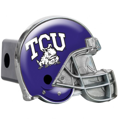 Texas Christian Horned Frogs Metal Helmet Trailer Hitch Cover
