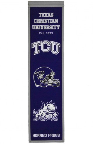 Texas Christian Horned Frogs Heritage Banner