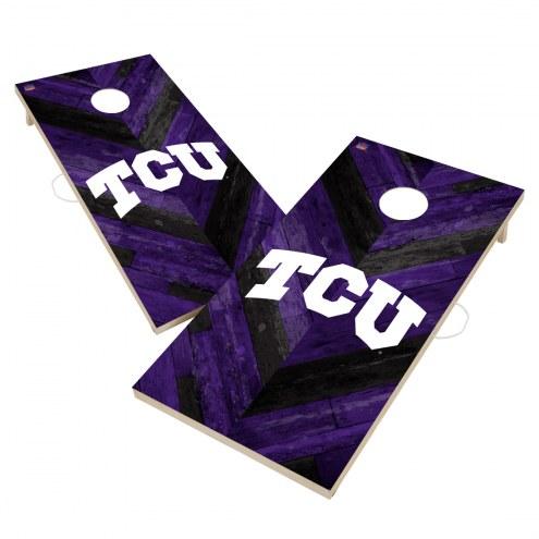 Texas Christian Horned Frogs Herringbone Cornhole Game Set