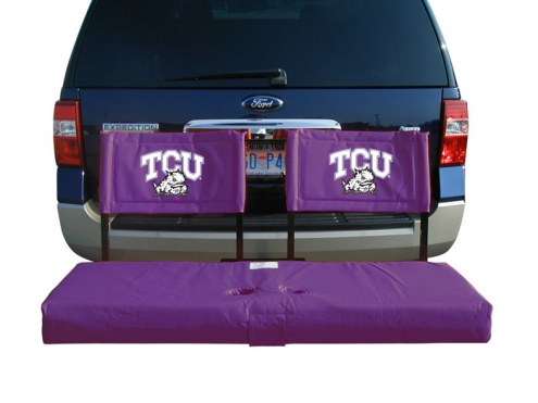Texas Christian Horned Frogs Tailgate Hitch Seat/Cargo Carrier