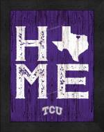 Texas Christian Horned Frogs Home Away From Home Wall Decor