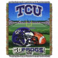 Texas Christian Horned Frogs Home Field Advantage Throw Blanket
