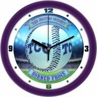 Texas Christian Horned Frogs Home Run Wall Clock