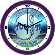 Texas Christian Horned Frogs Home Run Wall Clock