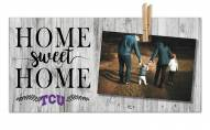 Texas Christian Horned Frogs Home Sweet Home Clothespin Frame
