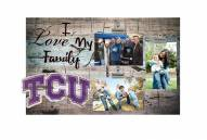 Texas Christian Horned Frogs I Love My Family Clip Frame