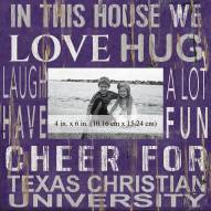 "Texas Christian Horned Frogs In This House 10"" x 10"" Picture Frame"