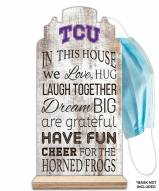 Texas Christian Horned Frogs In This House Mask Holder