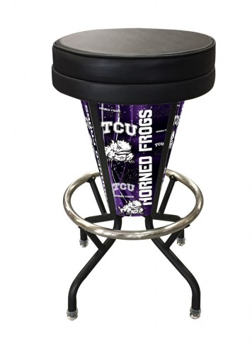 Texas Christian Horned Frogs Indoor/Outdoor Lighted Bar Stool