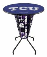 Texas Christian Horned Frogs Indoor Lighted Pub Table