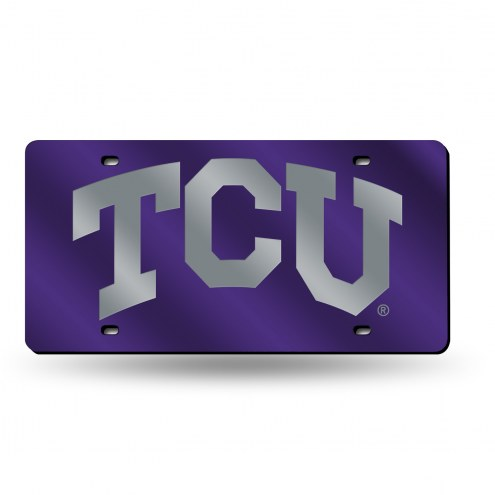 Texas Christian Horned Frogs Laser Cut License Plate