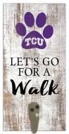 Texas Christian Horned Frogs Leash Holder Sign
