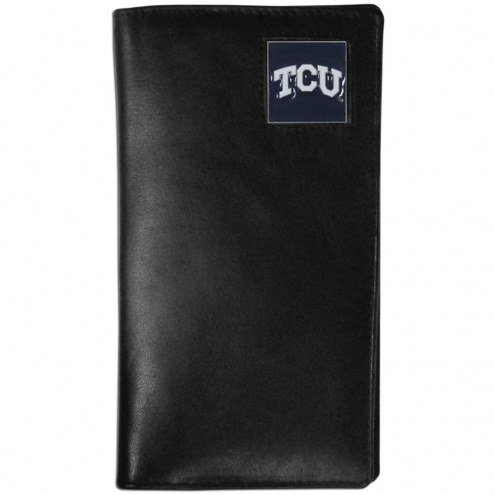 Texas Christian Horned Frogs Leather Tall Wallet