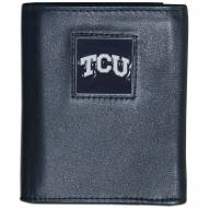 Texas Christian Horned Frogs Leather Tri-fold Wallet