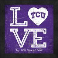 Texas Christian Horned Frogs Love My Team Color Wall Decor