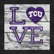 Texas Christian Horned Frogs Love My Team Square Wall Decor