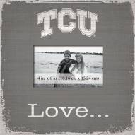 Texas Christian Horned Frogs Love Picture Frame