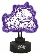 Texas Christian Horned Frogs Team Logo Neon Light