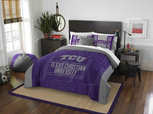 Texas Christian Horned Frogs Modern Take Full/Queen Comforter Set