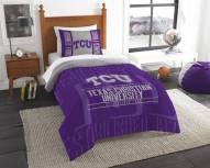 Texas Christian Horned Frogs Modern Take Twin Comforter Set