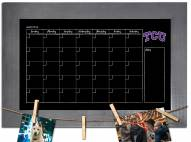 Texas Christian Horned Frogs Monthly Chalkboard with Frame