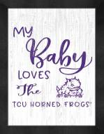 Texas Christian Horned Frogs My Baby Loves Framed Print