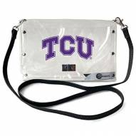 Texas Christian Horned Frogs Clear Envelope Purse