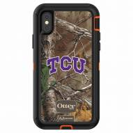 Texas Christian Horned Frogs OtterBox iPhone X Defender Realtree Camo Case