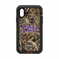Texas Christian Horned Frogs OtterBox iPhone XR Defender Realtree Camo Case