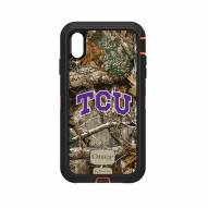 Texas Christian Horned Frogs OtterBox iPhone XS Max Defender Realtree Camo Case