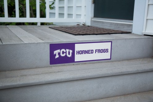 Texas Christian Horned Frogs Outdoor Step Graphic