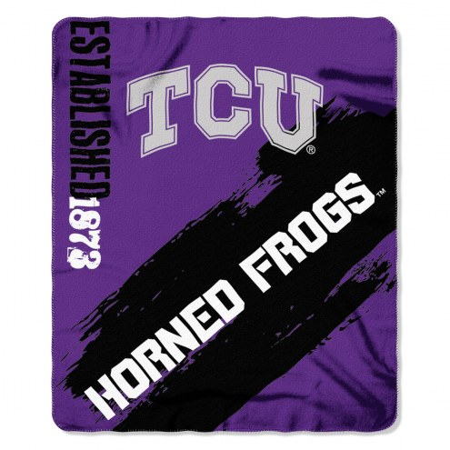 Texas Christian Horned Frogs Painted Fleece Blanket