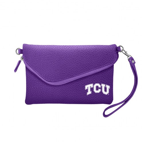 Texas Christian Horned Frogs Pebble Fold Over Purse