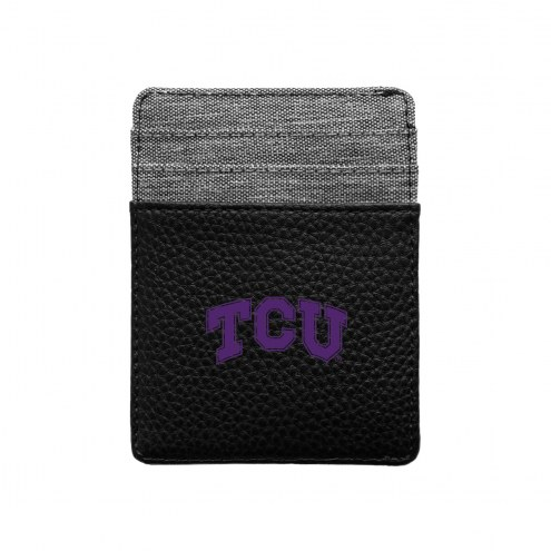 Texas Christian Horned Frogs Pebble Front Pocket Wallet