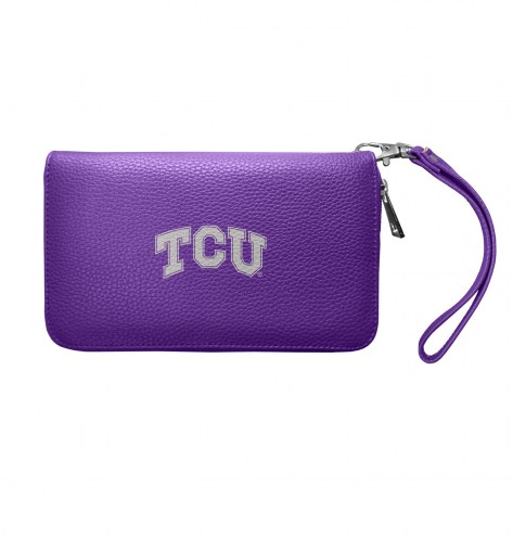 Texas Christian Horned Frogs Pebble Organizer Wallet