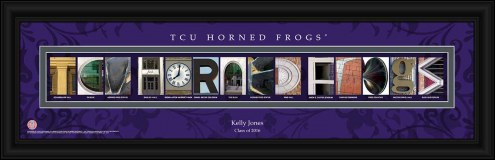 Texas Christian Horned Frogs Personalized Campus Letter Art