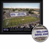 Texas Christian Horned Frogs 11 x 14 Personalized Framed Stadium Print