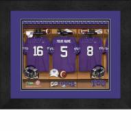 Texas Christian Horned Frogs Personalized Locker Room 13 x 16 Framed Photograph