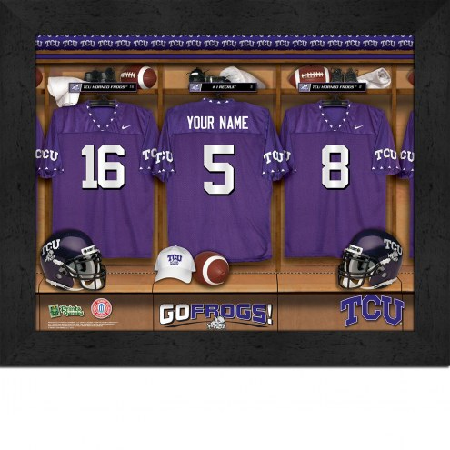 Texas Christian Horned Frogs Personalized Locker Room 11 x 14 Framed Photograph
