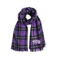 Texas Christian Horned Frogs Plaid Blanket Scarf