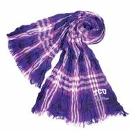 Texas Christian Horned Frogs Plaid Crinkle Scarf