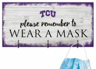Texas Christian Horned Frogs Please Wear Your Mask Sign
