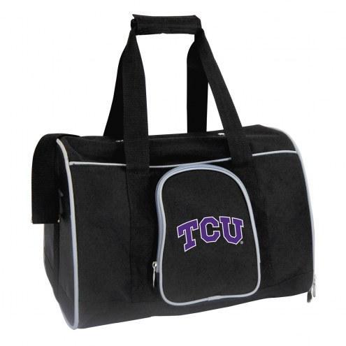 Texas Christian Horned Frogs Premium Pet Carrier Bag