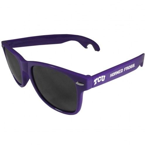 Texas Christian Horned Frogs Purple Beachfarer Bottle Opener Sunglasses