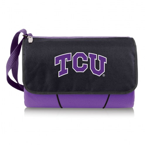 Texas Christian Horned Frogs Purple Blanket Tote