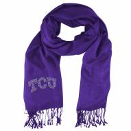 Texas Christian Horned Frogs Purple Pashi Fan Scarf