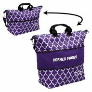 Texas Christian Horned Frogs Quatrefoil Expandable Tote