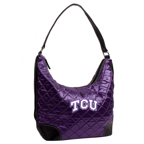 Texas Christian Horned Frogs Quilted Hobo Handbag